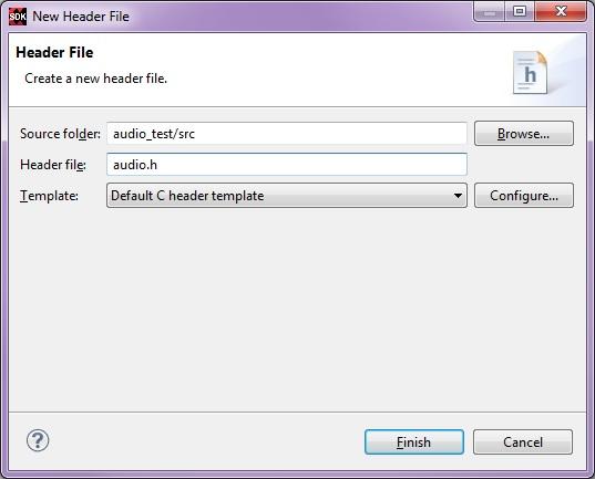 audio.h empty header file created in SDK