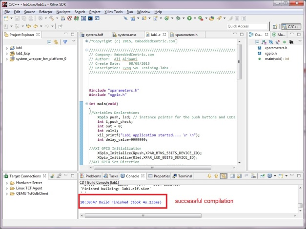 Compile the Application and its BSP