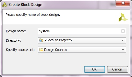 Create Block Design