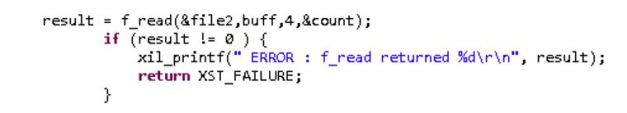 f_read() reading 4 bytes from a file