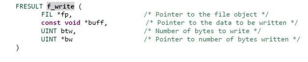 f_write() format