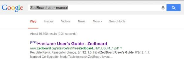 Finding ZedBoard User Manual