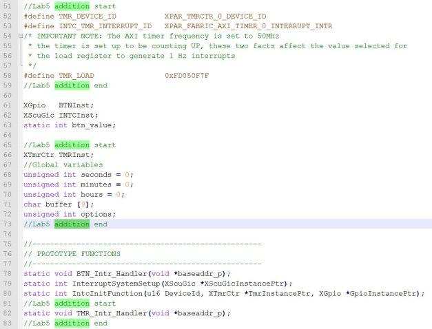 Lab5 additions on Lab4 C code