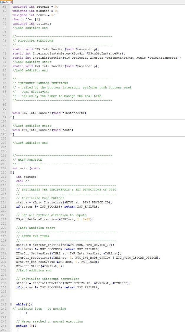 Lab5 C Code