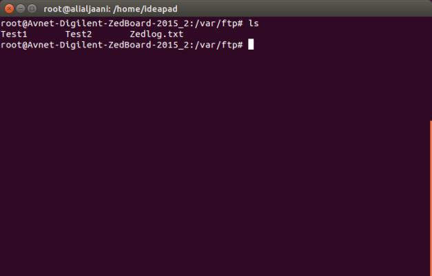 FTP Directory - Zedboard