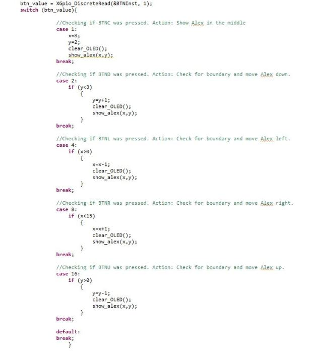 Modified switch case in BTN_Intr_Handler()
