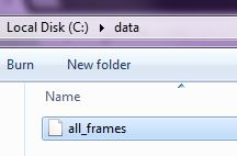 Save file all_frames in a folder with NO spaces
