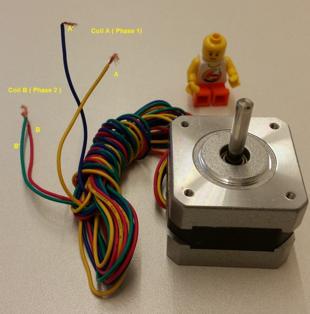 Stepper Motor used in Lab9 (SM-42BYG011-25)